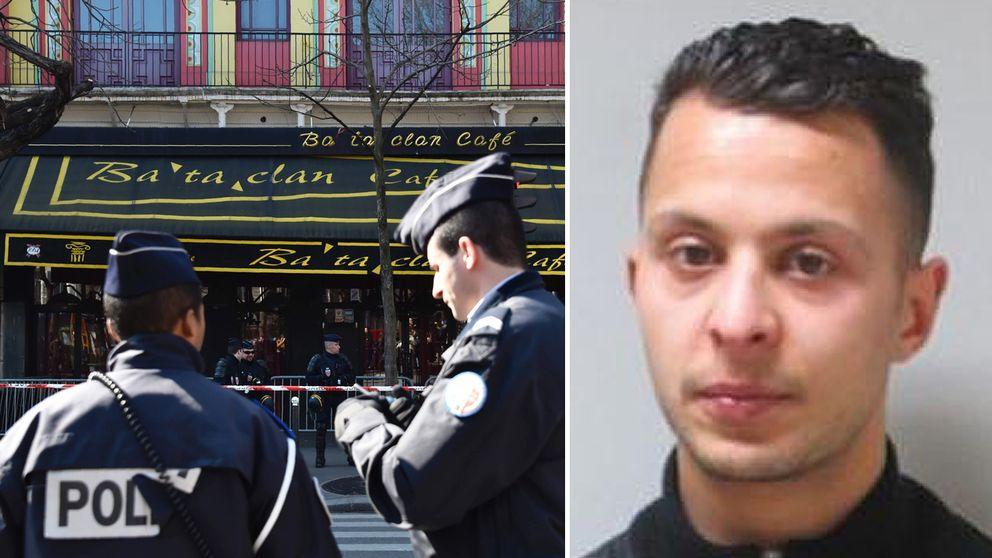 Konsertlokalen Bataclan i Paris och terrormisstänkte Salah Abdeslam.