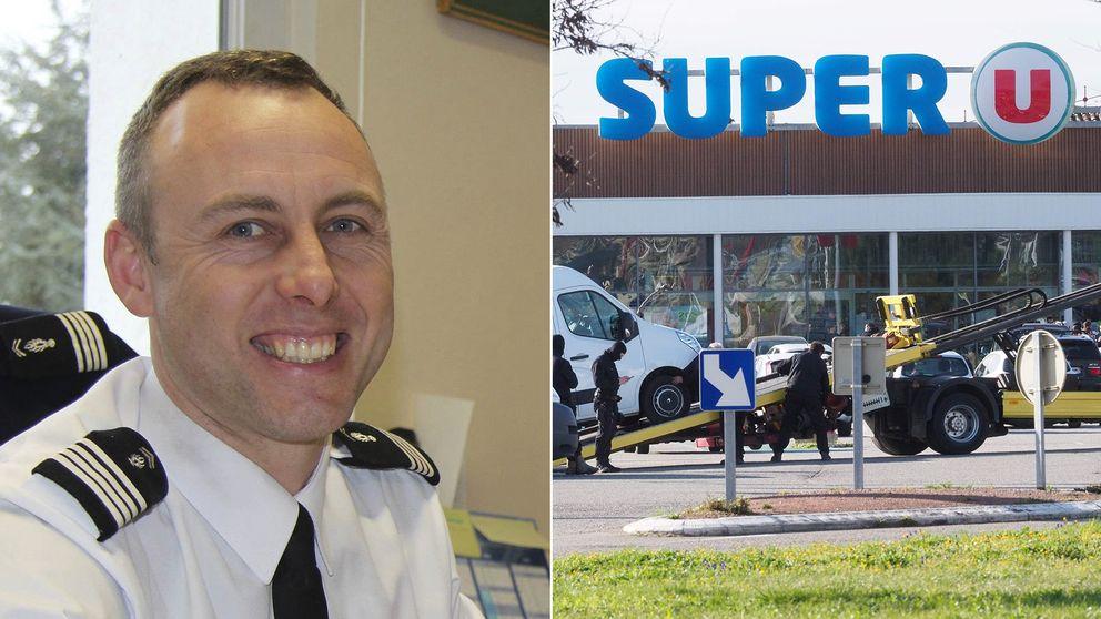 Polismannen Arnaud Beltrame, som hyllas som hjälte efter terrordådet i sydfranska Trèbes, har dött av sina skador.