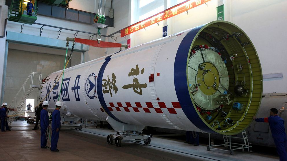 Tiangong-1 innan den sköts upp, år 2011. Arkivbild.