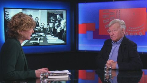 """Anita Kratz intervjuar författaren Olle Svenning om boken """"År med Erlander""""."""