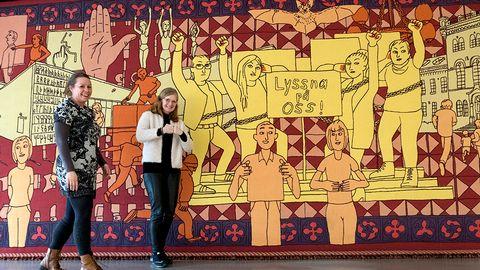 Konstverk på Tunaskolan i Lund väcker reaktioner