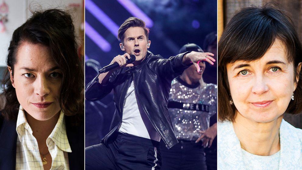 Liv Strömquist och Gunilla Brodrej är några av kulturrösterna som på senare tid ifrågasatt uppvärderingen av populärkultur, som Melodifestivalen.