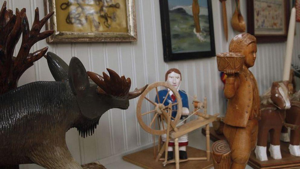 Verk från utställningen Folkkonstmuseum på Wanås