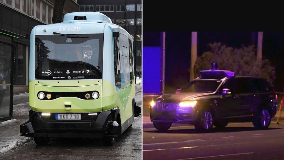 Sedan januari 2018 kör en självkörande buss i vanlig trafik i Kista utanför Stockholm. Den första dödsolyckan med en självkörande bil inträffade i Arizona i USA nyligen.