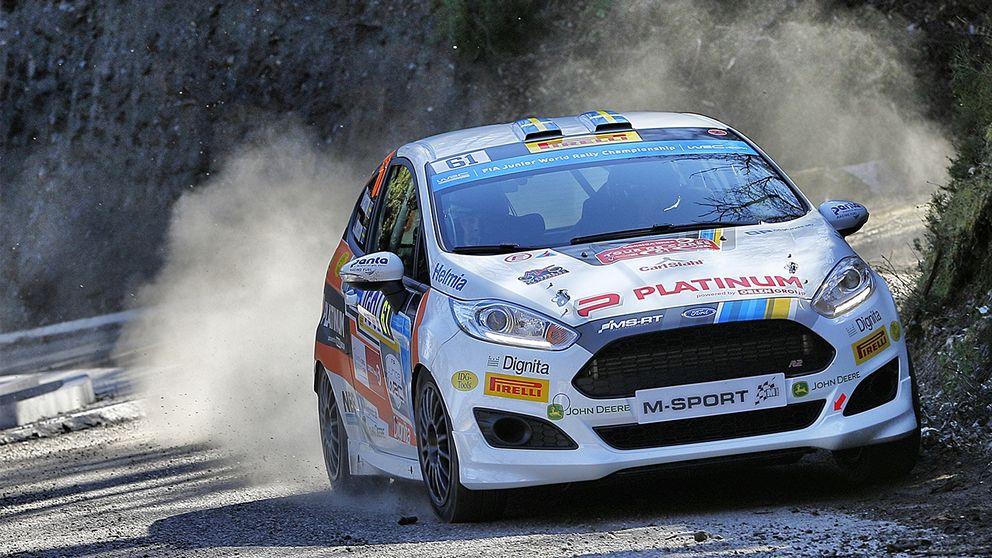 Rallyföraren Dennis Rådström på Korsika 2018