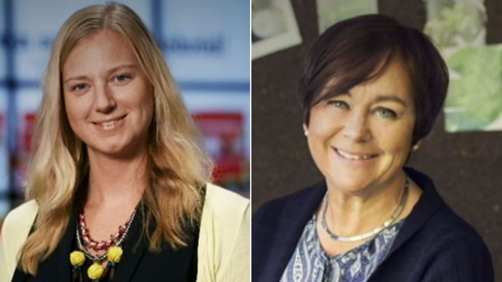 Lovisa Martin Marais, nutritionschef på Lantmännen, som äger Gooh!, och Margareta Lantz, presschef Orkla Foods Sverige, som äger Felix.