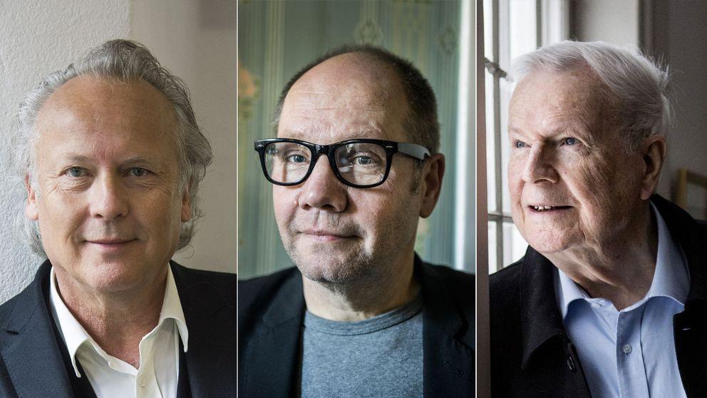Klas Östergren, Peter Englund och Kjell Espmark.