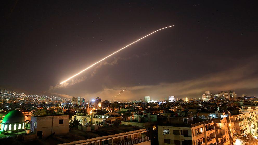 Missiler mot den syriska huvudstaden.