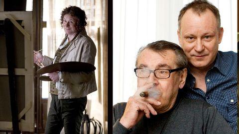 Stellan Skarsgård som Goya och med Milos Forman när regissörens film premiärvisades på Göteborgs filmfestival 2007.
