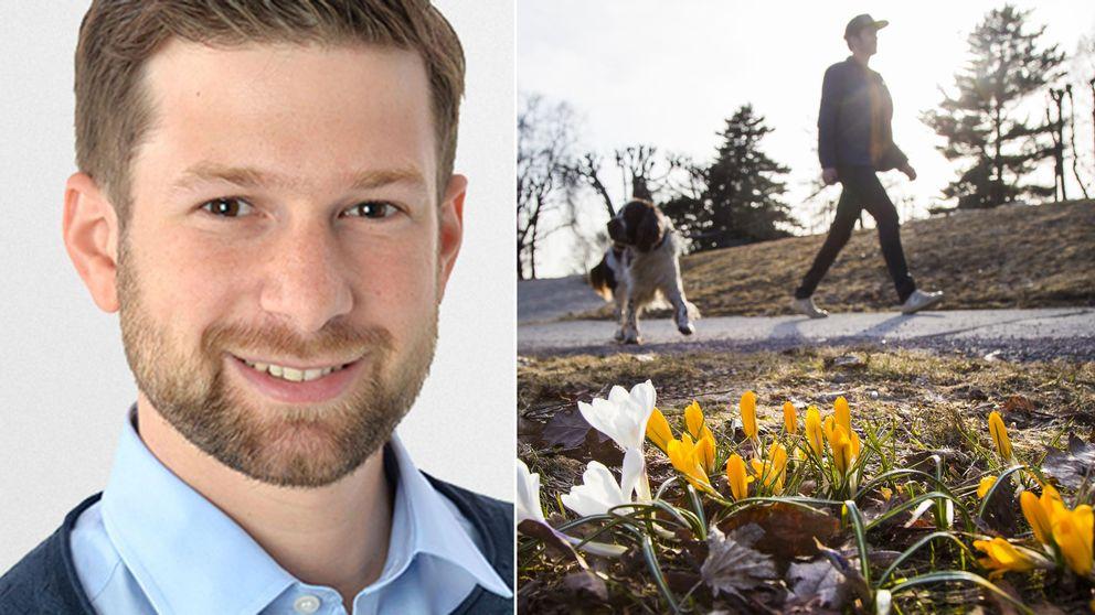 SVT:s meteorolog Nitzan Cohen och en solig vårpromenad