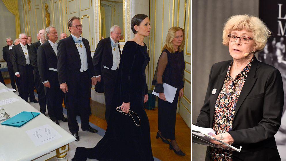 100 akademiker inom kulturforskningen riktar nu hård kritik mot Svenska Akademien, bland dem Alma-prisets juryordförande Boel Westin.