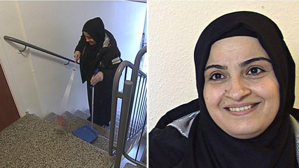 Vi besökte henne på hennes livs första arbetsdag. Esma Aksungur, 35-årig kurd från Turkiet som kom till Sverige 2001. Hon har aldrig haft ett jobb – tills nu.