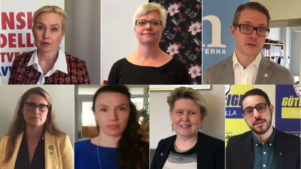 Sju riksdagsledamöter från Västsverige.