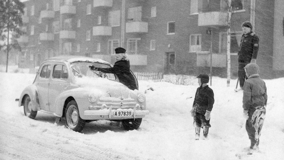 Snöväder (eller snöoväder?) 1956.