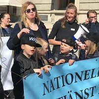 Demonstration för Nationell tolktjänst