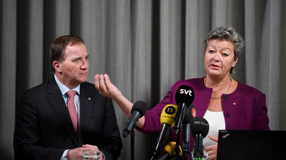 Socialdemokraternas partiledare Stefan Löfven och partiets arbetsmarknadspolitiska talesperson Ylva Johansson presenterar nya förslag kring arbetskraftsinvandringen.
