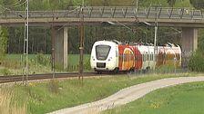 Östgötatrafikens tåg på väg mot Linköping