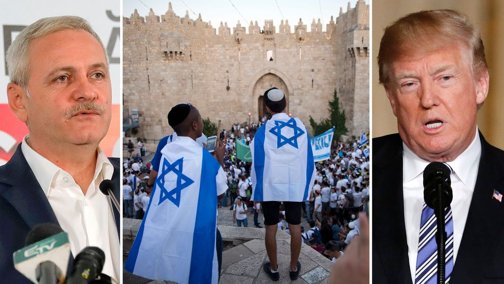 Ledaren för det socialdemokratiska regeringspartiet i Rumänien, Liviu Dragnea gör som Trump och annonserar att man kommer flytta sin ambassad till Jerusalem.