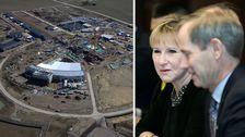 ESS i Lund och Margot Wallstr?m, tillsammans med Sveriges FN-ambassad?r Olof Skoog.