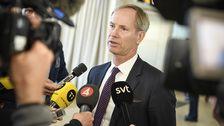 Olof Skoog, Sveriges FN-ambassadör, höll presskonferens på Sturups flygplats på söndagen.
