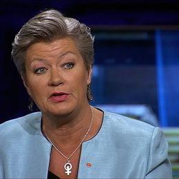 Ylva Johansson i Agendastudion.