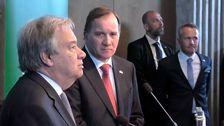 Löfven i överläggning med Guterres om FN:s framtid