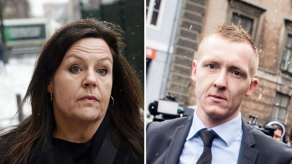 Peter Madsens advokat Betina Hald Engmark till vänster och åklagaren Jakob Buch-Jepsen.