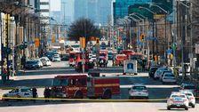 Platsen för attacken i Toronto