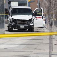 Bilen som användes vid attacken.