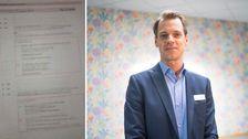 Rektor Marcus Segerstedt är besviken på att nationella provet har läckt ut i sociala medier.