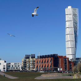 Turning Torso i Västra Hamnen i Malmö.