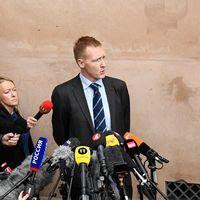 Åklagare Jakob Buch-Jepsen håller en presskonferens efter Peter Madsens livstidsdom i Byreten i Köpenhamn.