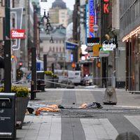 Drottninggatan efter terrorattacken i april 2017.