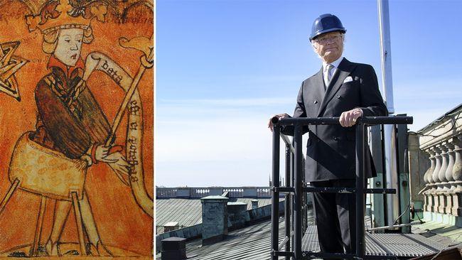 I dag blir kung Carl XVI Gustaf historisk - I dag, torsdag den 26 april har kung Carl XVI Gustaf varit kung i Sverige i 44 år och 223 dagar. Därmed blir han den bland alla kungar (och ett par drottningar) som suttit längst tid på tronen under tusen år av svensk historia.