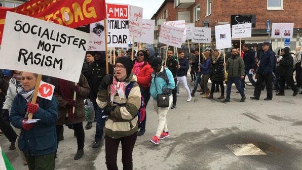 Nazistisk demonstration anmals for hets mot folkgrupp