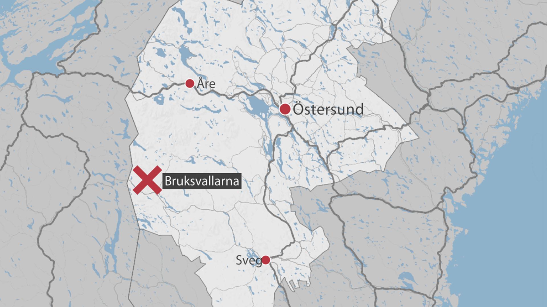 karta över bruksvallarna Man omkom i Bruksvallarna – fick ved över sig | SVT Nyheter karta över bruksvallarna