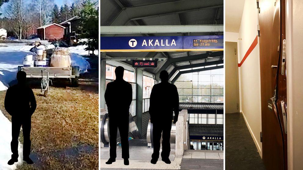 Gripandena gjordes i Stockholmsförorten Akalla och Strömsund, i Jämtland.