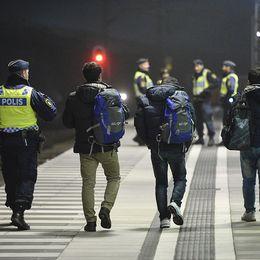 Polis gränskontroll Hyllie