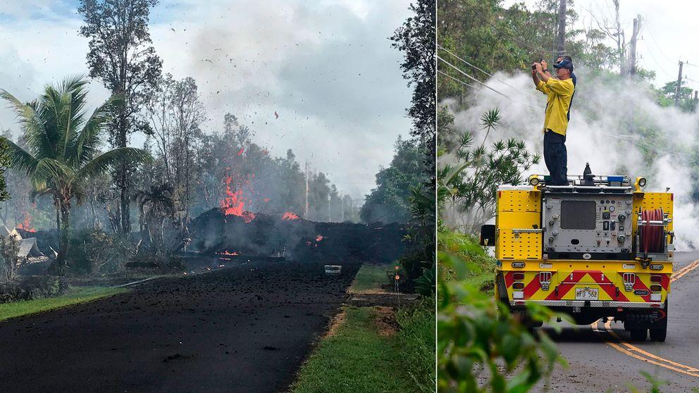 Vulkanen Kilauea har regelbundet fått mindre utbrott i mer än tre årtionden. Lavaströmmar från vulkanen har täckt ett stort område.