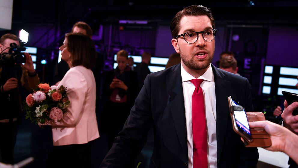 Partiledare Jimmie Åkesson (SD) efter debatten i SVT Agenda på söndagen.
