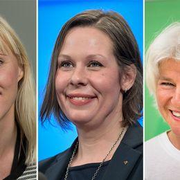 Åsa Westlund (S), Maria Malmer Stenergard (M) och Karin Svensson Smith (MP).