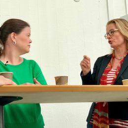 Anna Rantala Bonnier (Fi) och Lotta Edholm (L) debatterade trygghet.