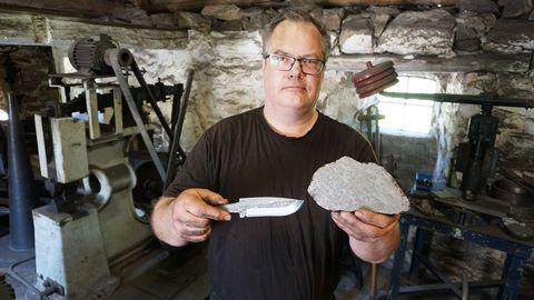 Magnus Jönsson meteorit kniv smed