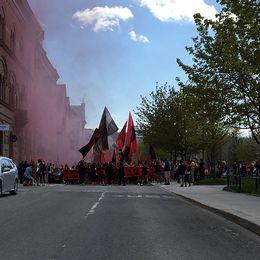 Östersunds FKs fans inledde sin marsch mot arenan vid 14.30-tiden.
