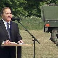 Statsminister Stefan Löfvén tackade alla kvinnor och män som utgör försvaret av Sverige: –Ni lever verkligen för något stort.