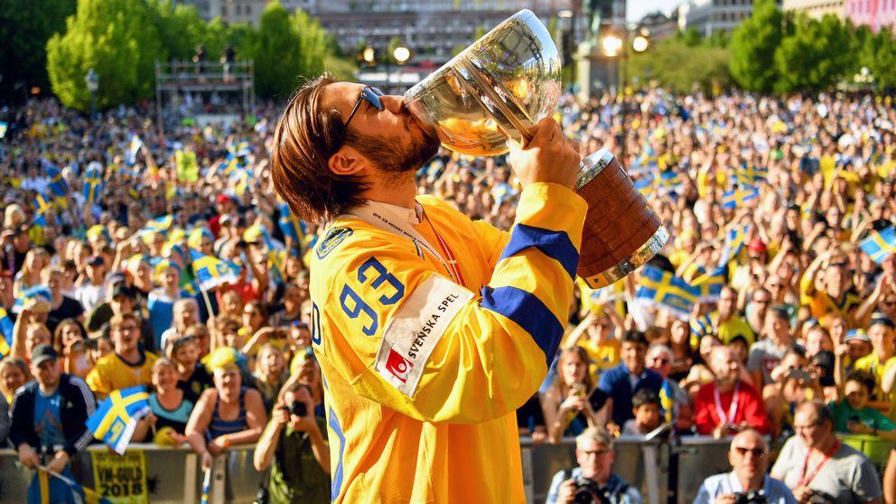 Znalezione obrazy dla zapytania tre kronor hockey Kungstradgarden