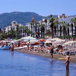 Badstrand i Turkiet