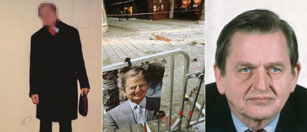 Mannen till vänster ska enligt en ny teori ha dödat statsminister Olof Palme på Sveavägen den 28 februari 1986.
