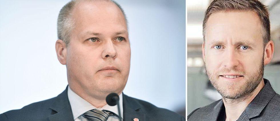 Sebastian Merlöv i Lomma (till höger) hoppar av riksdagslistan i protest mot justitie- och inrikesminister Morgan Johansson (S).