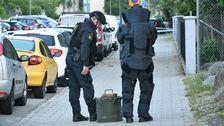 Polisen undersökte ett misstänkt föremål under onsdagsmorgonen.